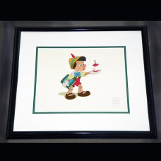 Disney Sericel FRAMED Pinocchio  Here's Your Apple 20.5 X 17.5