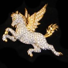 """Swarovski Pegasus Pin 2"""" tall"""