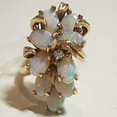 Opal cluster ring $999.