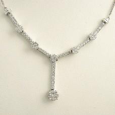 Diamond Necklace with Diamond Drop Pave Set