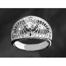 Diamond Ring 18KT White Gold 1 Caret Diamond Centre Stone Certified