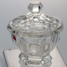 "Baccarat  Missouri Powder Box 732587 5.5"" tall"