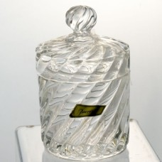 """Baccarat Covered Box Volute 712501 5.5"""" tall"""