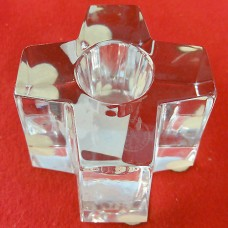 """Baccarat Plus Sign Candle Sticks PAIR 1.75"""" tall"""