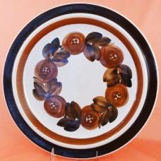 Arabia Finland Anemone Brown Platter Round 13 in dia
