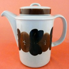 Arabia Finland Rosmarin Brown Coffee Pot 7 inches tall