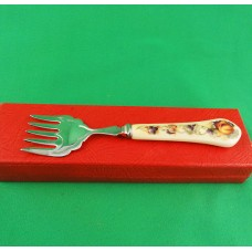 "Aynsley Orchard Gold Fork Silver Plated 6.5"" long"