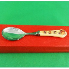 "Aynsley Orchard Gold Tea Spoon Silver Plated 5.5"" long"