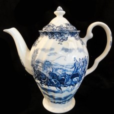 """COACHING SCENES BLUE by Johnson Brothers Coffee Pot 9.5"""""""