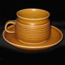 Denby Oak Apple Cup & Saucer