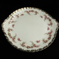 "DIMITY ROSE by Royal Albert Cake Plate Large 12.5"""