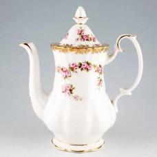 "DIMITY ROSE by Royal Albert Coffee Pot 9.75"""