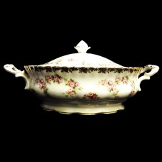 DIMITY ROSE by Royal Albert Covered Vegetable Bowl