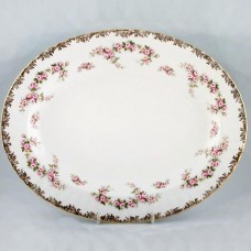 DIMITY ROSE by Royal Albert Large Oval Platter 16""