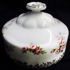 DIMITY ROSE by Royal Albert Round Butter Cover