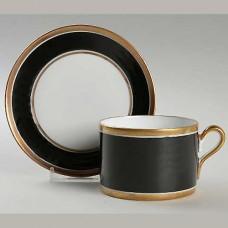 Ginori Contessa Black Cup and Saucer Low