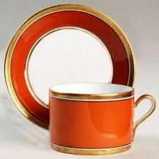 Ginori Contessa Rust Red Cup and Saucer