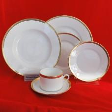 Ginori Dorato 6pc Place Setting includes Rim Soup