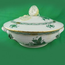Herend Chinese Bouquet Green Covered Vegetable 65/AV