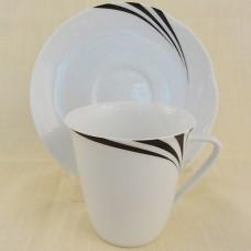 Hutschenreuther Maxim's de Paris Accent Tea Cup & Saucer