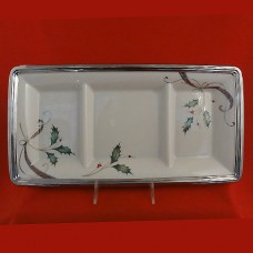 Lenox Holiday Nouveau 3 Part serving Tray 16 inches long