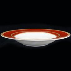 "Mikasa Ambassador Red Rim Soup 8.5"""
