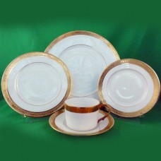 AMBASSADOR GOLD by Raynaud Limoges 5 Piece Place Setting
