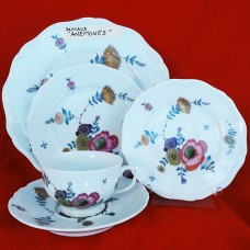 ANEMONES by Raynaud Limoges 5 Piece Place Setting