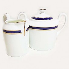DIPLOMAT by Raynaud Limoges Creamer & Covered Sugar