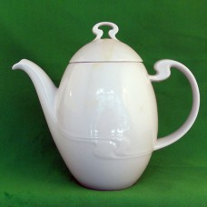 "Rosenthal Assimetria White Coffee Pot 8"" tall"
