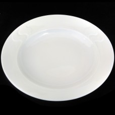 Rosenthal Assimetria White Rim Soup Bowl 8.8""