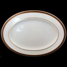 """Rosenthal Medaillon Meandre Maroon Oval Platter 16"""""""