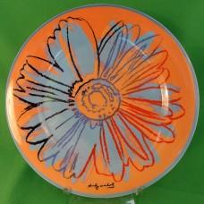 "Warhol by Rosenthal Plate 7.75"" Orange Flower"