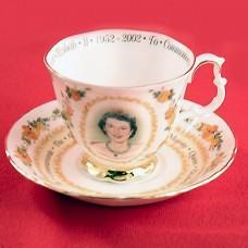 Royal Albert Queen Elizabeth II Golden Jubilee Cup & Saucer