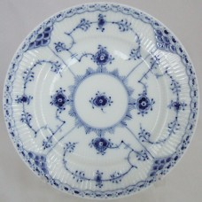 """Royal Copenhagen Blue Fluted Half Lace Bread and Butter 6"""""""