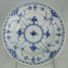 """Royal Copenhagen Blue Fluted Half Lace Rim Soup 1/566 8.5"""""""