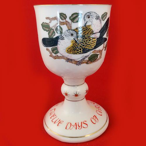 2 turtle doves Royal Doulton Twelve Days Of Christmas Goblet Bone China