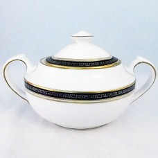 """ODYSSEY BLACK by Spode Covered Sugar Bowl 3.25"""" tall"""