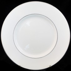 """WHITE & PLATINUM by Royal Tuscan Oval Gravy Stand 8.5"""""""