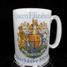 Wood & Sons Queen Elizabeth II Stein Silver Jubilee