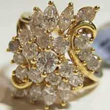 Diamond GIA certified Cluster Ring $4800