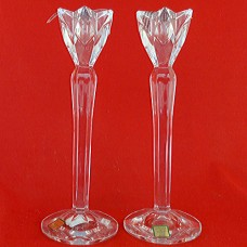 """Waterford Candle Holders pair 9.75"""" tall"""