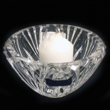"Waterford Solara Candle Holder 2.75"""" tall reversible"