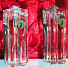 """Waterford Star Pillars Candle Holders pair 5.75"""" tall"""