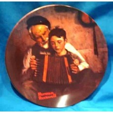 Norman Rockwell Plate The Music Maker by Knowles